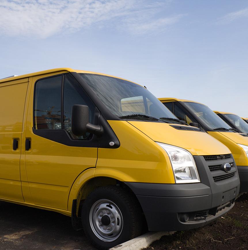 gelbe Transporter